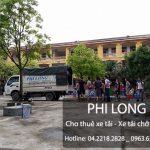 Dịch vụ cho thuê xe tải chuyển nhà giá rẻ Phi Long tại phố Lê Hồng Phong
