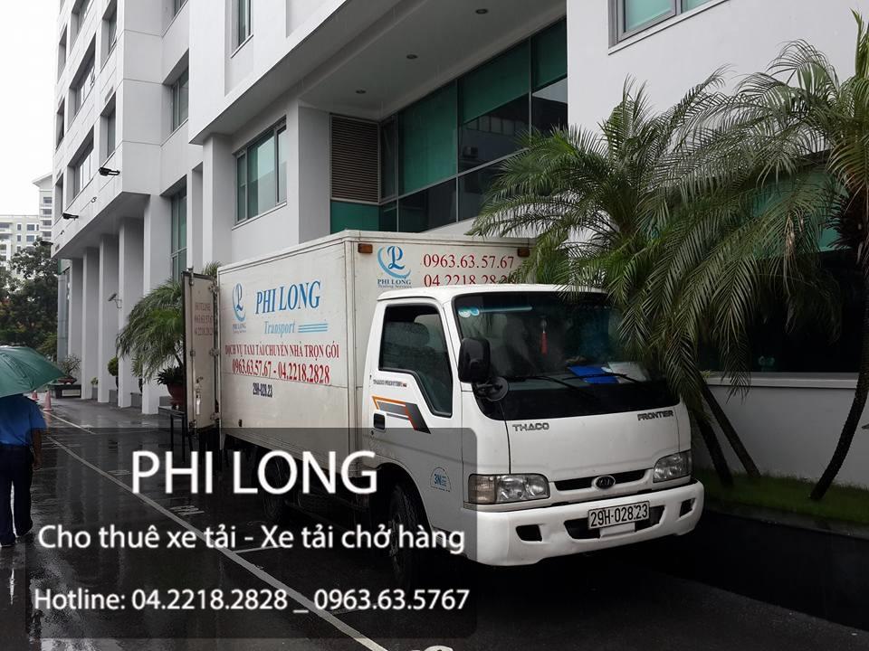 Phi Long cho thuê xe tải chở hàng tại phố Nguyễn Quý Đức