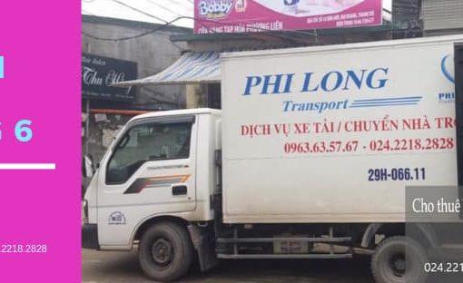 Dịch vụ xe tải tại đường Nghi Tàm 2019
