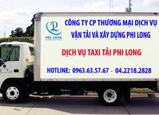 Dịch vụ xe tải tại phố Thúy Lĩnh
