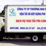 Công ty taxi tải trọn gói Phi Long tại phố Đào Cam Mộc