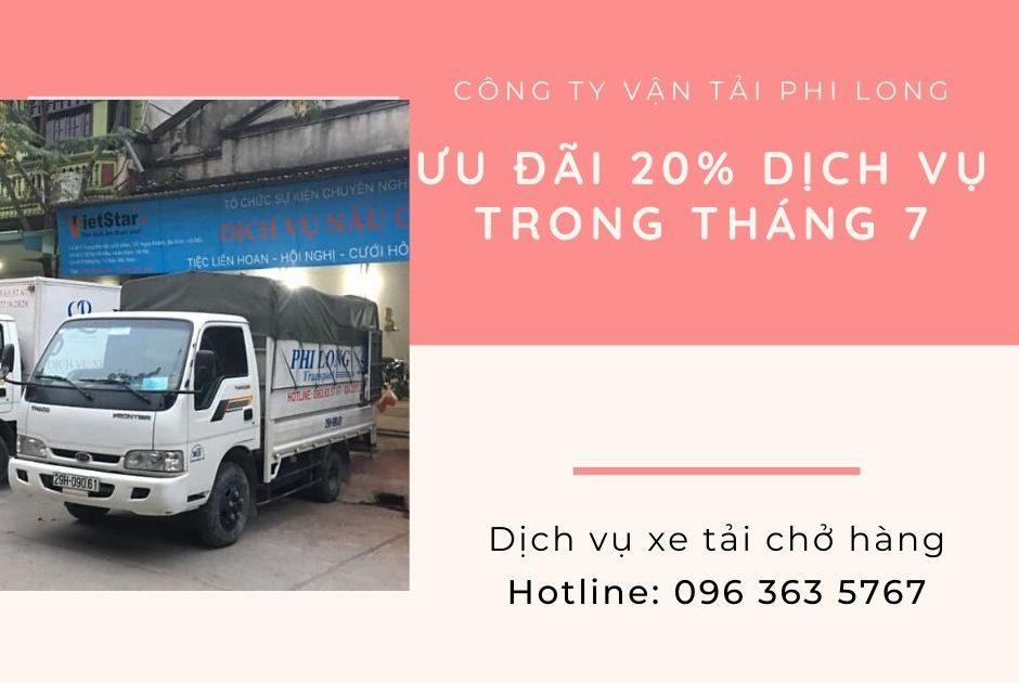 Dịch vụ cho thuê xe tải Phi Long tại xã Văn Tự