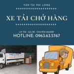 Dịch vụ xe tải chở hàng Phi long tại xã Tri Thủy